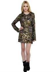 Isabel Marant Sequin Embellished Silk Chiffon Dress