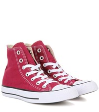 Converse Chuck Taylor All Star High Top Sneakers Red