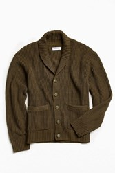 Urban Outfitters Uo Shawl Cardigan Olive