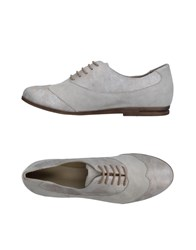 Khrio' Lace Up Shoes Light Grey