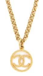 Wgaca What Goes Around Comes Around Chanel Rope Cc Necklace Previously Owned Gold