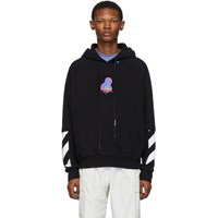 Off White Black And Multicolor Thermo Double Sleeve Hoodie