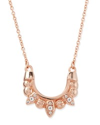 Rose Gold Plated Mini Tribal Spike Necklace Pamela Love