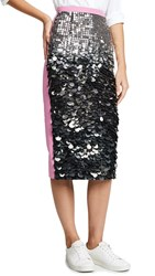 N 21 No. Sequin Midi Skirt Silver