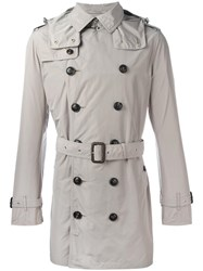 Burberry Double Breasted Trench Coat Nude Neutrals