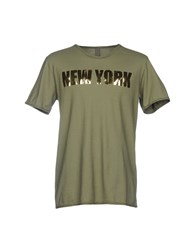 Wlg By Giorgio Brato T Shirts Military Green
