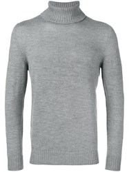 Drumohr Rollneck Jumper Grey