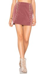 Endless Rose Lace Up Skirt Mauve