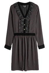 The Kooples Dress With Lace And Velvet Black