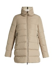 Moncler Petrea Funnel Neck Quilted Down Coat Light Grey