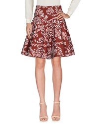 Christies A Porter Knee Length Skirts Maroon