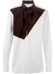 Neil Barrett Bow Tie Applique Shirt Black