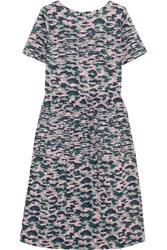 Chinti And Parker Pintucked Camouflage Print Cotton Voile Dress Forest Green