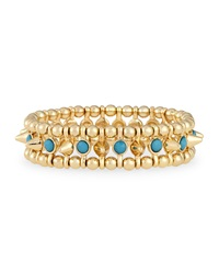 Jules Smith Designs Small Golden Spike Stretch Bracelet Turquoise Jules Smith