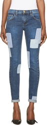 Roseanna Blue Patchwork Skinny Jeans
