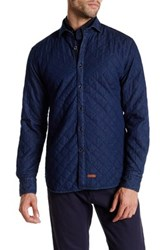 Stone Rose Long Sleeve Quilted Shacket Blue