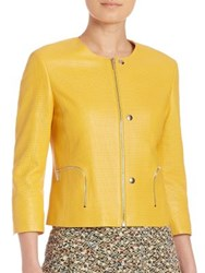 Akris Punto Perforated Leather Jacket Xanthoria