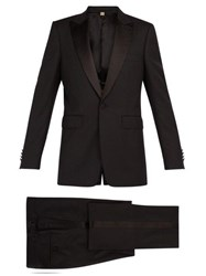 Burberry Marylebone Wool Blend Tuxedo Black
