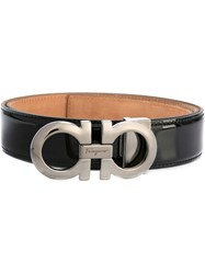 Salvatore Ferragamo 'Double Gancini' Belt Black