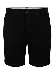 Topman Black Stretch Skinny Chino Shorts