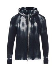 Balmain Tie Dye Hooded Cotton Sweatshirt