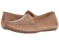 David Tate Lana Taupe Naked Calf Women's Flat Shoes Brown