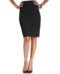 Style And Co. Pull On Ponte Knit Pencil Skirt Deep Black