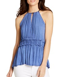 Jessica Simpson Bentley Halterneck Sleeveless Top Clematis Blu