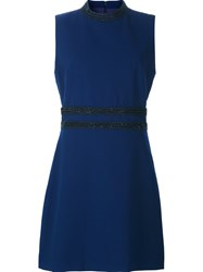 Nicole Miller Beaded Detail Dress Blue