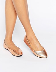 Lost Ink Bronze Ballet Flats Bronze Copper