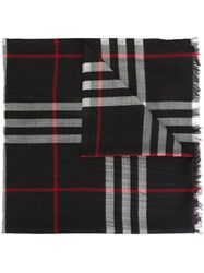 Burberry 'Gauze Giant' Scarf Black