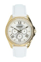 Versus By Versace 'S Elmont Swarovski Crystal Accent Watch 40Mm Yellow Gold