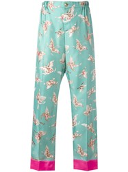 F.R.S For Restless Sleepers Butterfly Print Trousers Blue
