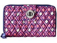 Vera Bradley Turn Lock Wallet Katalina Pink Diamonds Wallet Handbags