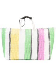 Truss Nyc Oversized Striped Woven Tote Women Acetate One Size