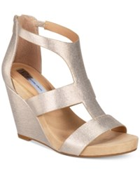 Inc International Concepts Women's Lilbeth Wedge Sandals Only At Macy's Women's Shoes Champagne