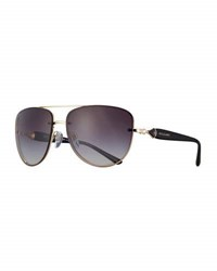 Bulgari Square Gradient Aviator Sunglasses Rose Gold Black