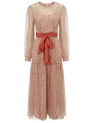 Jonathan Saunders Peach Silk Chiffon Della Dress Pink