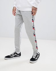 Wrangler Retro Side Stripe Joggers Gray