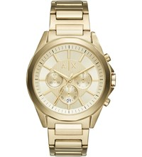 Armani Exchange Ax2602 Gold Plated Stainless Steel Watch