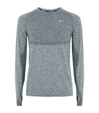 Nike Dri Fit Running Top Male Dark Grey