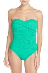 Lablanca Women's La Blanca Twist Front Bandeau One Piece Swimsuit Mint