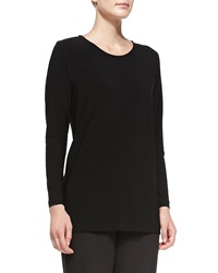 Caroline Rose Long Stretch Knit Tunic Women's Black