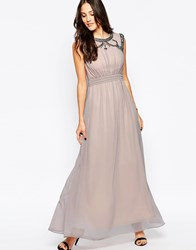 Little Mistress Maxi Dress With Embellished Detail Mink Purple