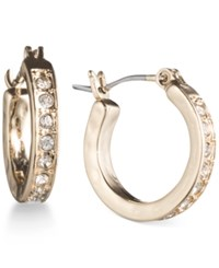 Lonna And Lilly Gold Tone Pave Crystal Hoop Earrings