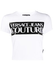 Versace Jeans Couture Printed Logo Crop T Shirt 60