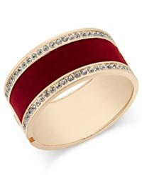 Thalia Sodi Gold Tone Crystal Hinged Bangle Bracelet Only At Macy's Red Velvet