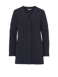 Betty Barclay Ribbed Cardigan Coat Blue