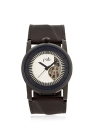Fob Paris Rehab Solid Silver Matte Black Watch