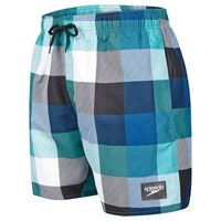 Speedo Check Print Leisure 16 Watershorts Green Black